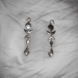 Lucky Brand silver crescent earrings